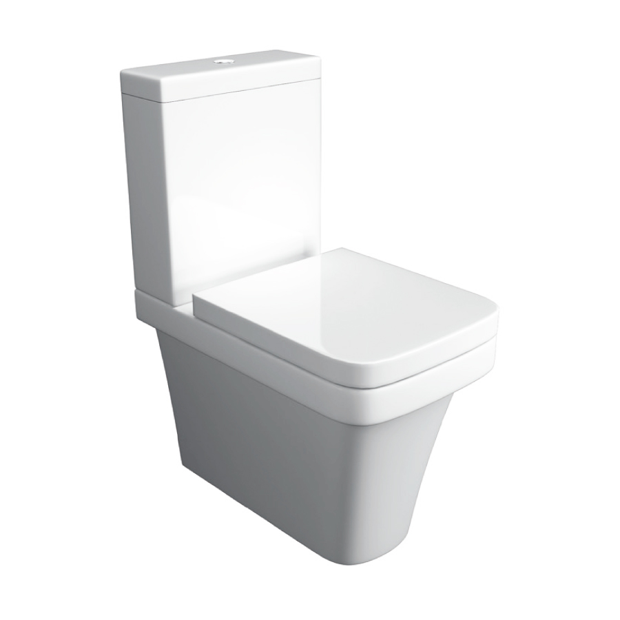 K-Vit Sicily Fully Back To Wall Close Coupled Pan & Cistern (Seat Not Included)