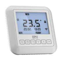 EPH Mains Operated programmable Recessed Thermostat RS1