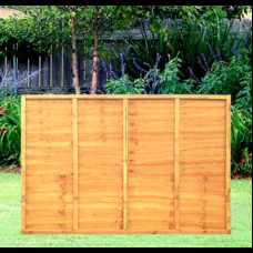 6' x 4' Waney Edge Overlap 5 Bar Fence Panel