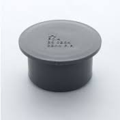 32mm Push Fit Waste Socket Plug / Stop End - Grey