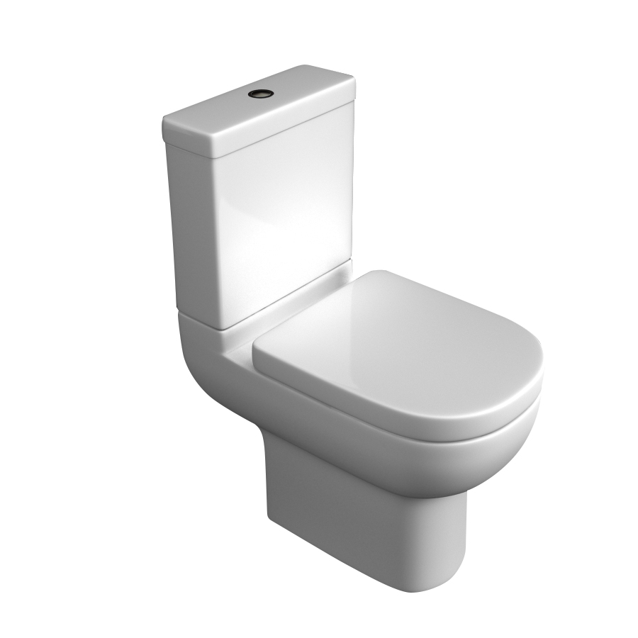 K-Vit Studio Close Coupled WC Pan & Cistern (Seat Not Included)
