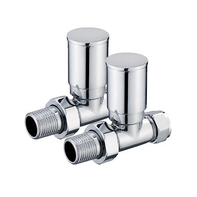 Towel Rail Valves - 15mm Straight - Chrome