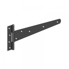 "GateMate 450mm (18"") Medium Tee Hinges - Black"