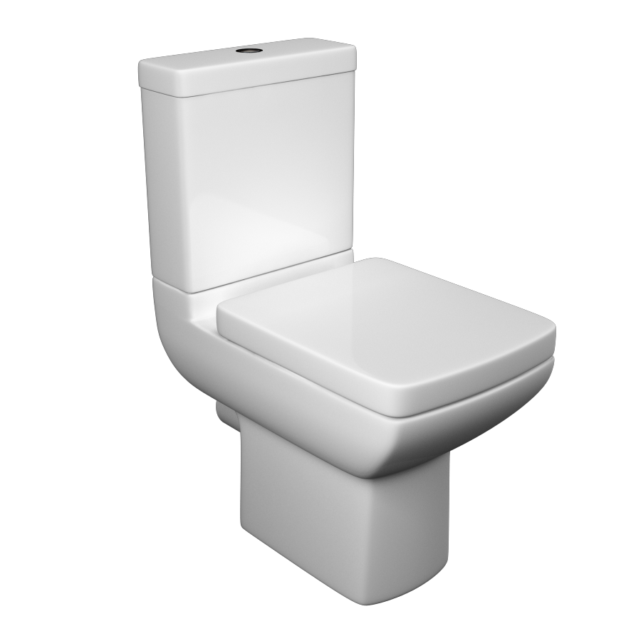 K-Vit Pure Close Coupled WC Pan & Cistern (Seat Not Included)