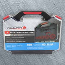 Addax Plumbers Holesaw Kit (17, 24, 30, 34, 43, 52mm)
