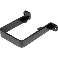 65mm Square Downpipe Clip - Black