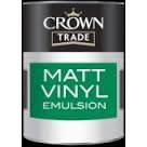 Crown Trade Matt Vinyl Emulsion - 5l - Magnolia