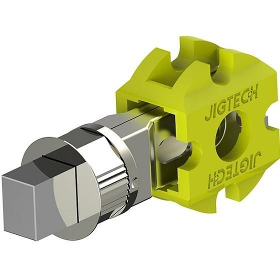 JigTech Smart Standard Bathroom Bolt Tubular Latch - 57mm - Polished Chrome (w/ Round & Rectangular Strike Plate)
