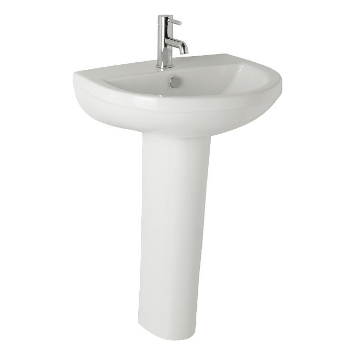 K-Vit Revive Basin 500mm 1TH & Pedestal