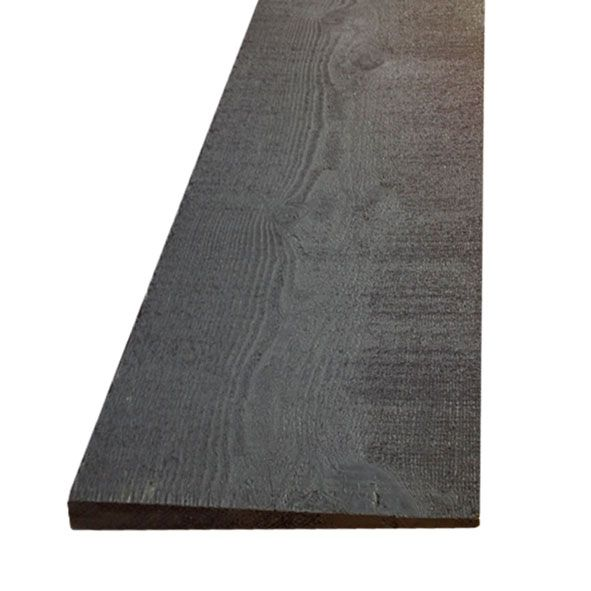 175mm Black Treated 32mm Featheredge Cladding (4.8m)