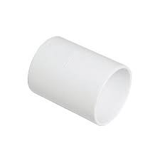 50mm Solvent Weld Waste Straight Coupler - White