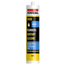 Soudal Trade Plumbers Sanitary 300ml Silicone - White