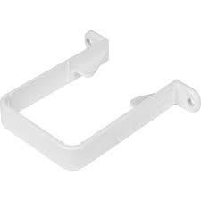 65mm Square Downpipe Clip - White