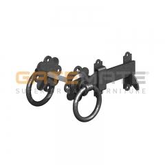 "GateMate 150mm (6"") Ring Gate Latch - Black"