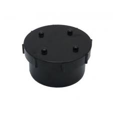 Universal Spigot Screwed Access Cap - Black
