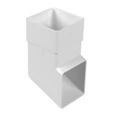 65mm Square Downpipe Standard Shoe - White