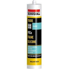 Soudal Trade uPVC 300ml Frame Silicone - Brilliant White