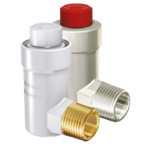 """Flamco 1/2"""" Brass Automatic Bottle Air Vent with bottom side entry"""