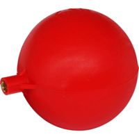 "4.5"" Red Poly Platic Ball Float (Brass Insert)"