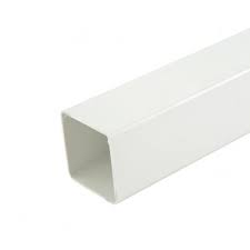 65mm Square Downpipe 4 metre Downpipe - White