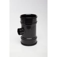110mm x 40mm Solvent Weld Short Boss Pipe - Black