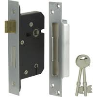 Dale 76mm 5 Lever BS3621 Reversable Mortice Sashlock - Stainless Steel