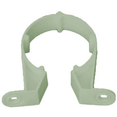 40mm Pipe Clip - Olive Grey