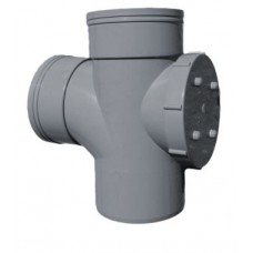 110mm Solvent Weld Double Socket Access Branch - Olive Grey