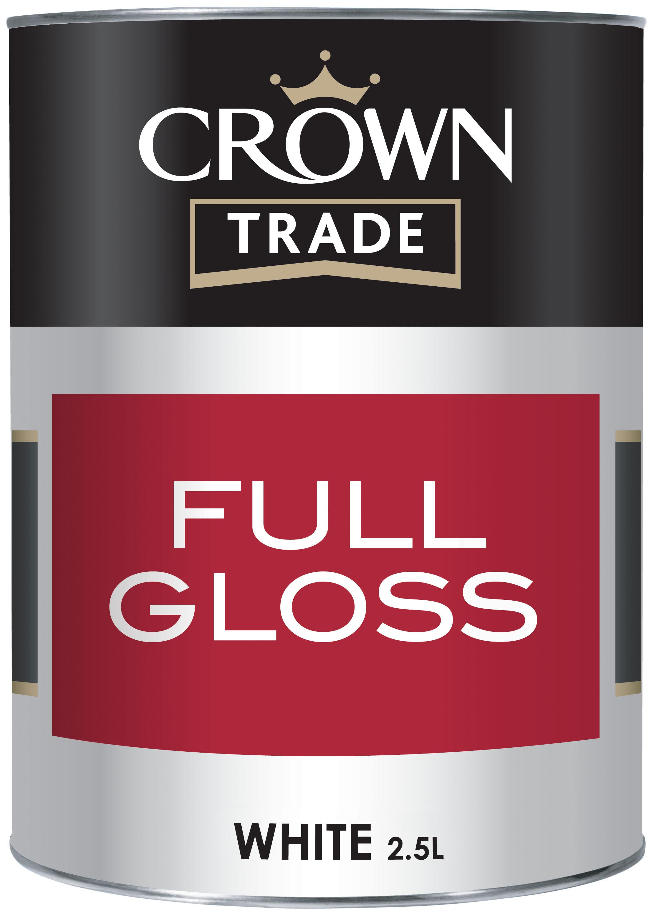 Crown Trade - Full Gloss - Brilliant White - 2.5L