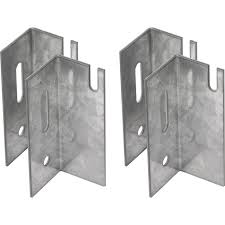 Universal 76mm Replacement Radiator Brackets (Pack of 4)
