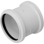 110mm Push Fit Double Socket Coupling - White