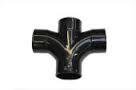50mm Solvent Weld Waste Cross Tee  - Black