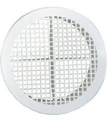 Circular Soffit Vent - White