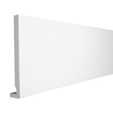 16mm Square White Fascia Board 200mm (5m)