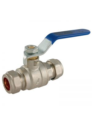 22mm Lever Ball Valve (Blue/Red)