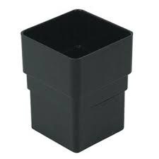 65mm Square Downpipe Socket Downpipe Socket (Union) - Black
