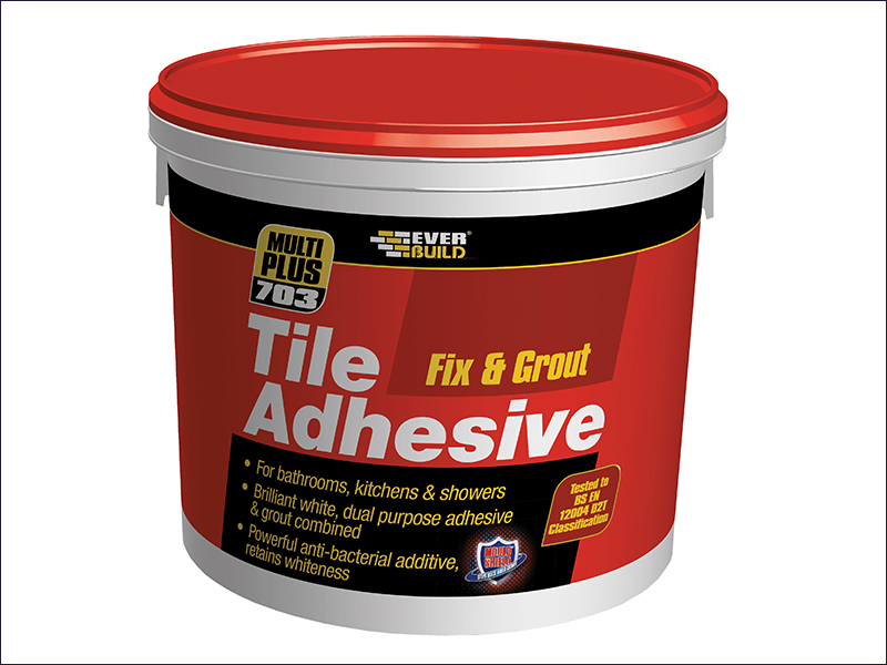 Everbuild Fix & Grout Tile Adhesive - 750g