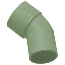 50mm Solvent Weld Waste 45' Spigot Bend - Olive Grey