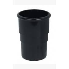 68mm Round Downpipe Socket (Union) - Black