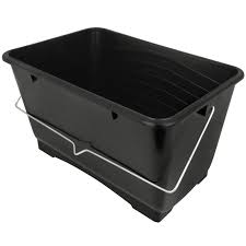 10L Square Paint Scuttle - Black