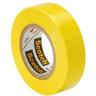 PVC Insulating Tape: Yellow (25m)