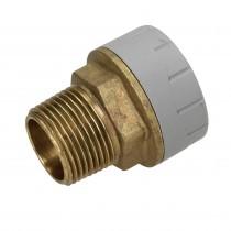 Polyplumb 15mm x 1/2 Male Iron Straight Connector