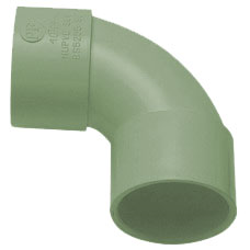 50mm Solvent Weld Waste 90' Swept Bend - Olive Grey