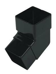 65mm Square Downpipe 112' Downpipe Bend - Black