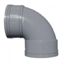 110mm Solvent Weld 90' Double Socket Bend - Olive Grey