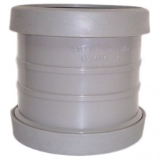 110mm Push Fit Double Socket Coupling - Grey
