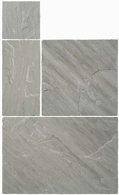 GlobalStone 18mm Calibrated Indian Sandstone Project Pack - Pure (Kandla) Grey