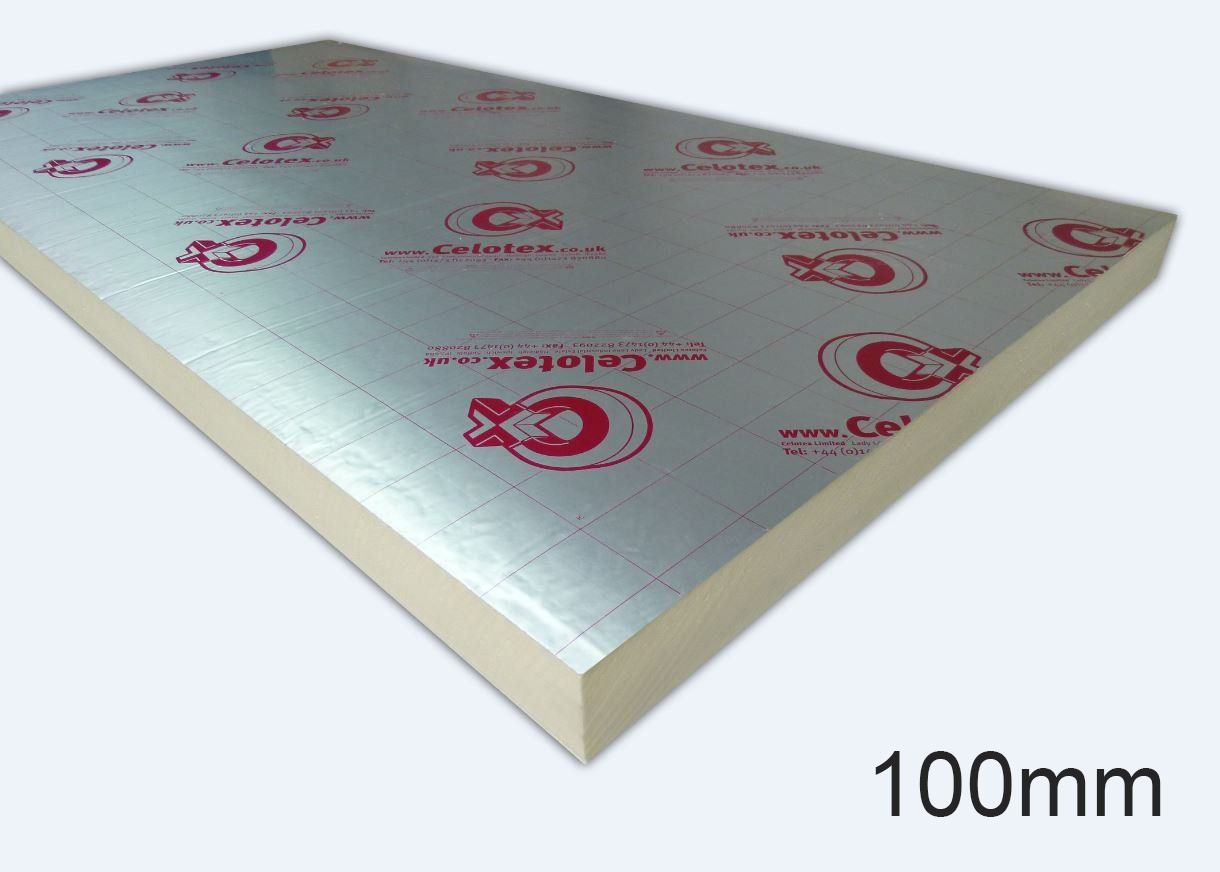 100mm GA4100 PIR Insulation Board 1200 x 2400mm