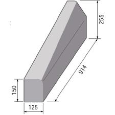 BS HB2 RH Drop Kerb - 125 x 255/150mm