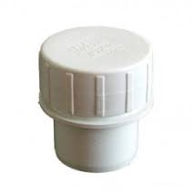 32mm Push Fit Waste Screwed Access Plug - White
